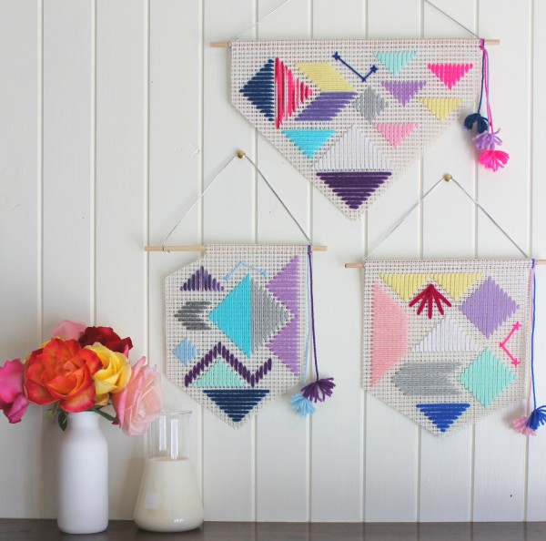 Etsy Design Award Finalist Highlights: Woven small banner by Fizzy Lime Creative via WeeBirdy.com.