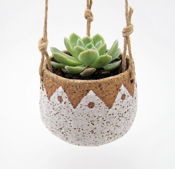 Etsy Design Award Finalist Highlights: Hanging succulent planter by Susan Simonini via WeeBirdy.com.