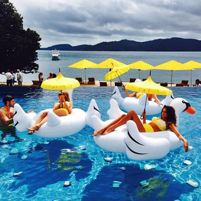 Giant Swan At Qualia Resort, Via WeeBirdy.com.