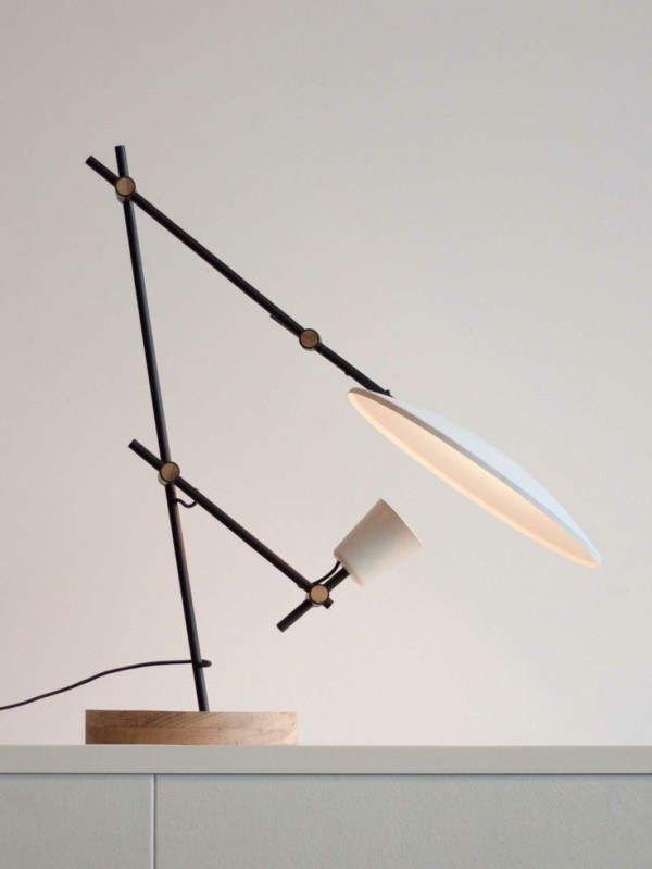 10 Amazing Home Ideas that Interior Designer Shaynna Blaze Loves: Crescent Table Lamp by Lewis Yee, via Yellowtrace.