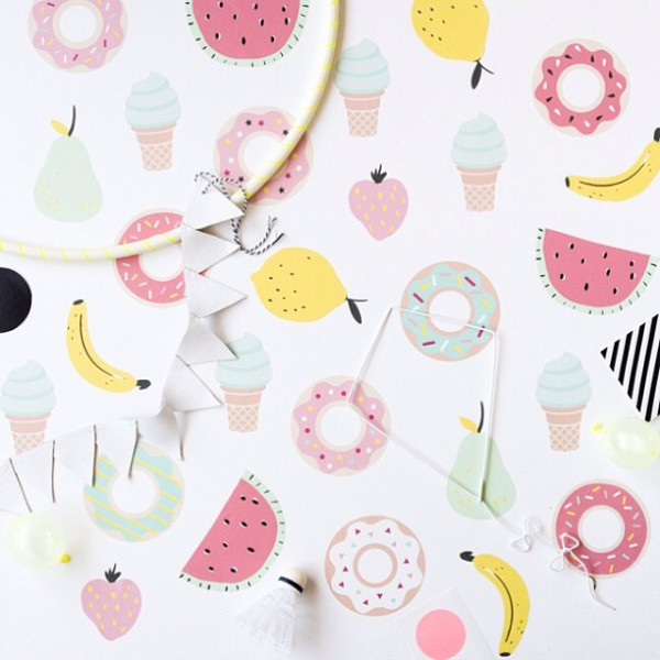 Lark's new wall stickers in fruity themes, ice creams and DONUTS have arrived form @jimmycricketau. So easy to add a touch of summer to your space!