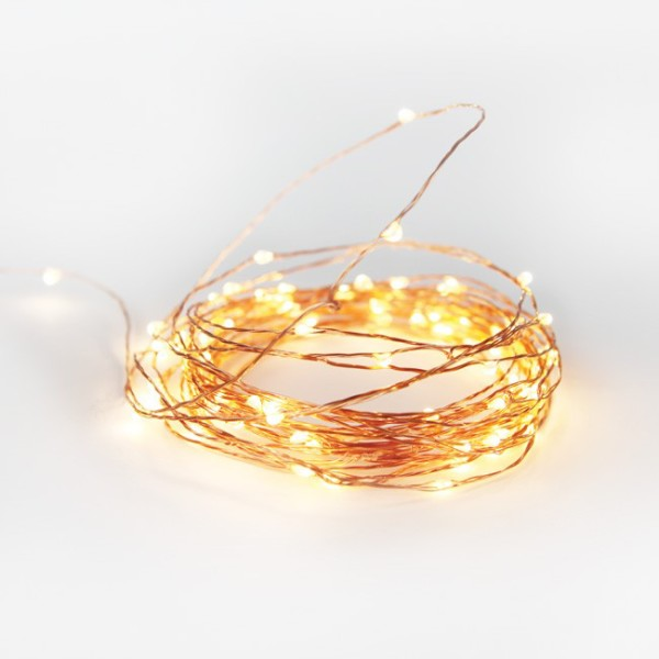 LOVE: NEW Copper wire string lights for Christmas from Lark, via WeeBirdy.com.