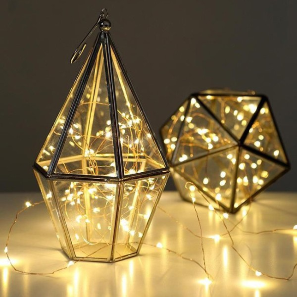 Wee find for Christmas 2014: Copper Wire String Lights from Lark, via WeeBirdy.com.