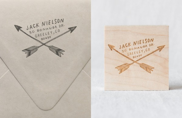 What to buy now from Etsy for Christmas: Custom address stamps, via WeeBirdy.com.