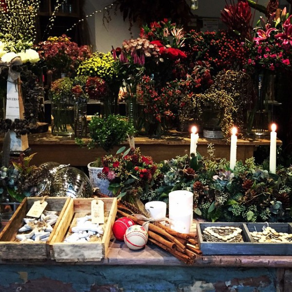 Christmas has come to Ham Yard Hotel in Soho. Beautiful festive flowers, decorations and accessories by Bloomsbury Flowers.
