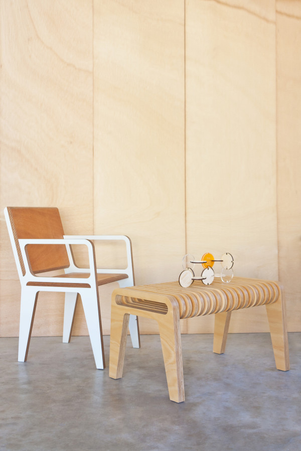 Handcrafted from locally sustained timbers, Carl's pieces are inspired by mid-century design, via WeeBirdy.com.