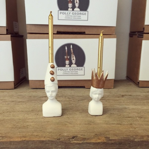 East London store (and old Wee Birdy haunt) Luna and Curious have these brilliant new limited edition Mr and Mrs Jones candleholders by Polly George.