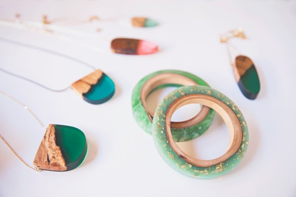Some of Britta's beautiful creations, made with resin and Australian timber, via WeeBirdy.com.