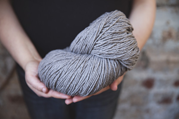 A skein of rare Cormo breed wool from A Ton of Wool.