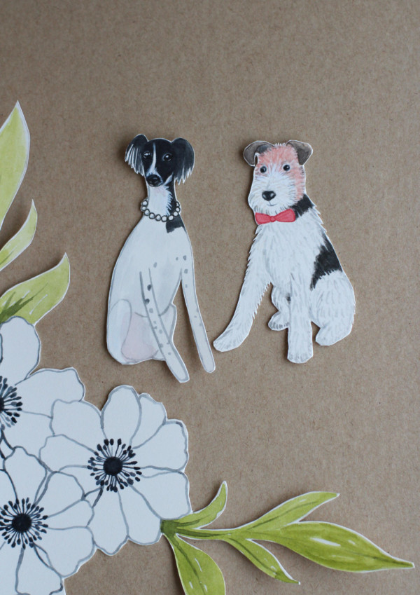 Love! Great Christmas present idea: Custom watercolour paper doll of your pet, $42.50, from Little Paper Clouds.