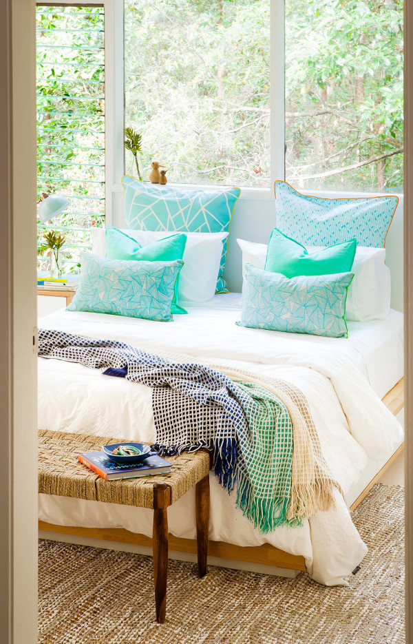 Inspiration: Scandi summer house meets Australian pole house. Wee Birdy throws open the doors of her bedroom makeover, via WeeBirdy.com.