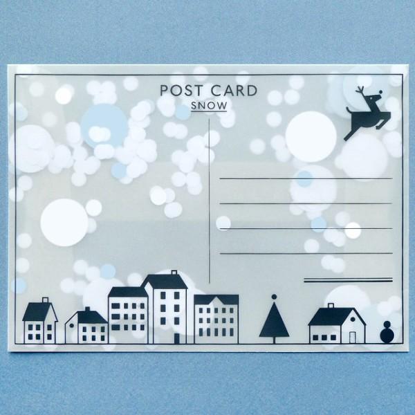Wee Find: Send a flurry of snow this Christmas with a postcard from Present and Correct.