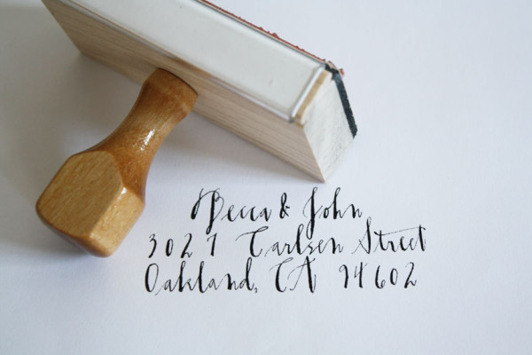 What to buy now for Christmas: Custom return address stamps for your Christmas cards, via WeeBirdy.com