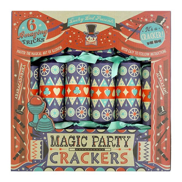 Wee Birdy's round-up of the best crackers for Christmas 2014: Lucky Lad's Magic Party Crackers from Lark, via WeeBirdy.com.