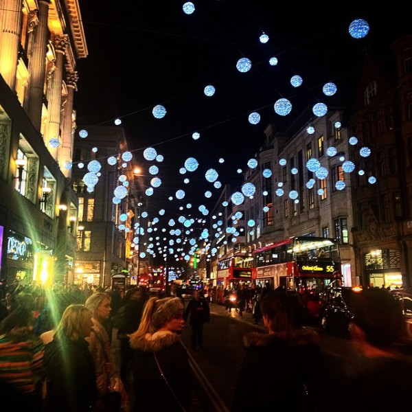 Christmas Lights in London 2014: Oxford Street lights, via WeeBirdy.com.