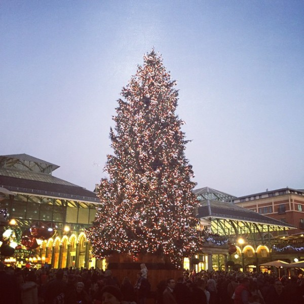 Christmas Lights in London 2014: Covent Garden via WeeBirdy.com.