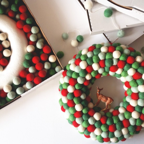 Genius: DIY Christmas wreath and garland kit, from Down That Little Lane.