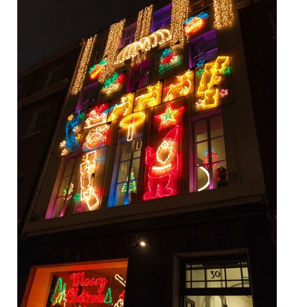 Christmas Lights in London 2014: Stella McCartney's Mayfair store, via WeeBirdy.com.
