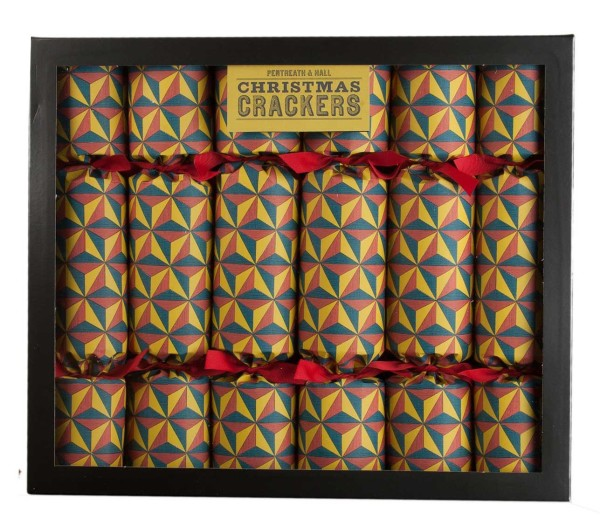 Wee Birdy's round-up of the best crackers for Christmas 2014: Yellow Tetrahedron Pattern Christmas Crackers by Pentreath & Hall, via WeeBirdy.com.