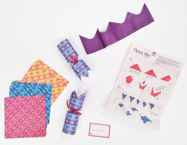 Wee Birdy's round-up of the best crackers for Christmas 2014: Origami crackers from Lark, via WeeBirdy.com.
