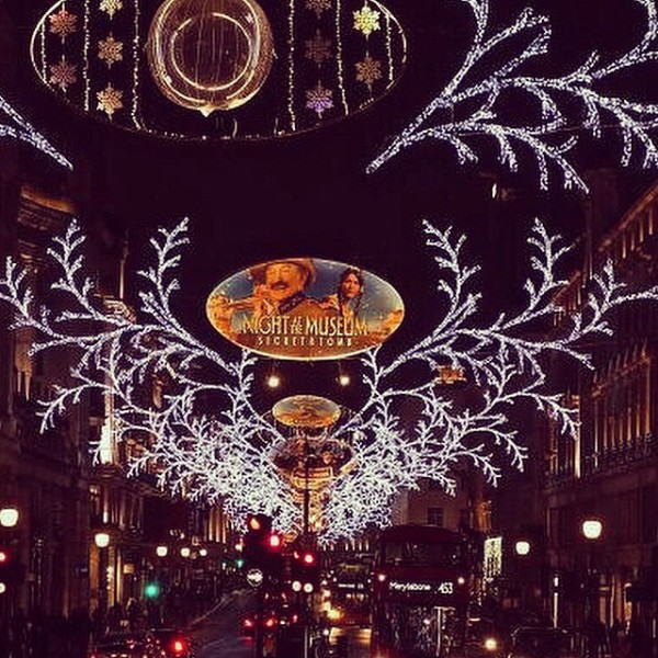Christmas Lights in London 2014: Regent Street, via WeeBirdy.com.