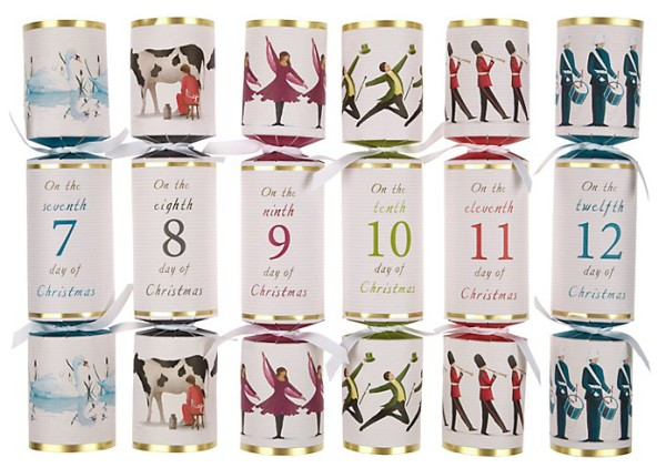 Wee Birdy's round-up of the best crackers for Christmas 2014:John Lewis Twelve Days Of Christmas Crackers, via WeeBirdy.com.