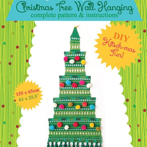 Wee find: Christmas tree wall hanging instant PDF download pattern, $5.50, from Pilgrim Lee's Etsy shop.