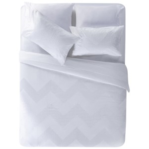 Zigzag king quilt in white, $209.95, from Freedom.