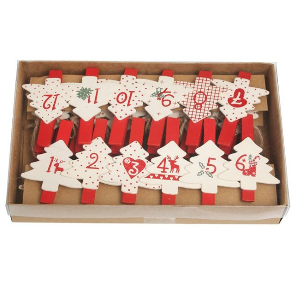 Advent Calendars with a Difference: Scandinavian Christmas string Advent calendar from Lark.