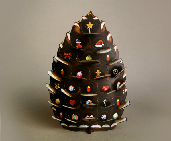 Advent Calendars with a Difference:  The Little Pine Cone Advent Calendar by Crank Bunny.