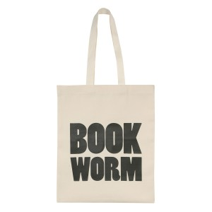 25 Excellent Presents for Book Lovers, via WeeBirdy.com: Book worm cotton tote bag, $24, from Everything Begins.