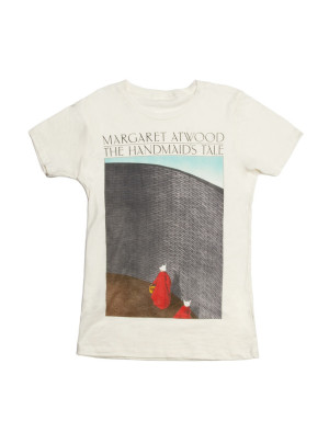 25 Excellent Presents for Book Lovers, via WeeBirdy.com: The Handmaid's Tale t-shirt, $22, from Out of Print Clothing.