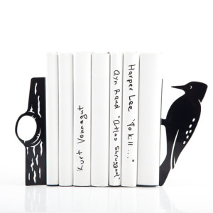 25 Excellent Presents for Book Lovers, via WeeBirdy.com: Woodpecker bookends, $69, from Down that Little Lane.