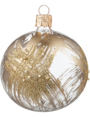 Gold brushed pearl ornament, $5.95, from David Jones.