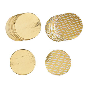 VINTERMYS gold decorations pack of 80, $2.99, from IKEA.