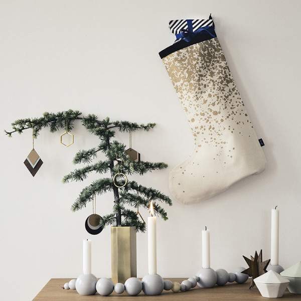Scandi style with splashes of gold is one of the key looks for Christmas 2014, as seen here by Ferm Living.