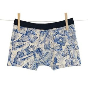 Hand-printed neutra boxer, $38, by Thunderpants.