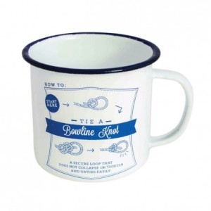 Knots Adventure enamel mug, $15.95, from Lark.