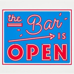'The Bar is Open' print, £65, from Soma Gallery.
