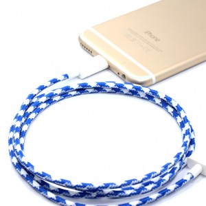 J.Crew collab houndstooth lightning cable, $25.95, from Eastern Collective.