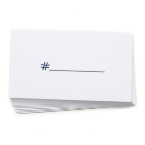 Terrapin Stationers hashtag calling cards, $15.01, from East Dane.