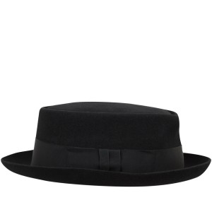 Christys' Hats black felt pork pie hat, £65, from Liberty.