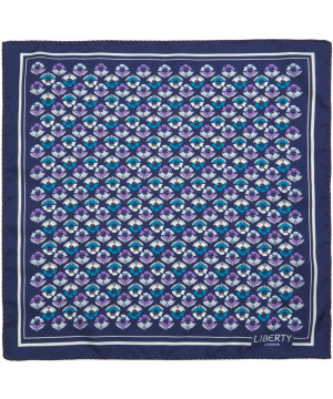 Liberty London navy Miranda print silk pocket square, £45, from Liberty.