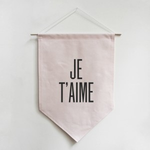 Je T'aime banner, $63, from Wee Birdy's GREAT.LY shop.
