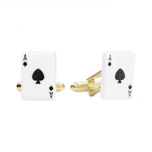 Ace of Spades cufflinks, £30, from Tatty Devine.