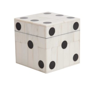 Wooden box of dice, £35, from Pentreath-Hall.