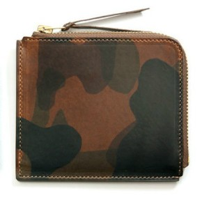 Camouflage leather zip wallet, $220, from My Cuppa Tea.