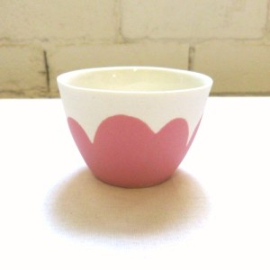 Raspberry daisy tealight by Ingrid Tufts, $22, from Craft.