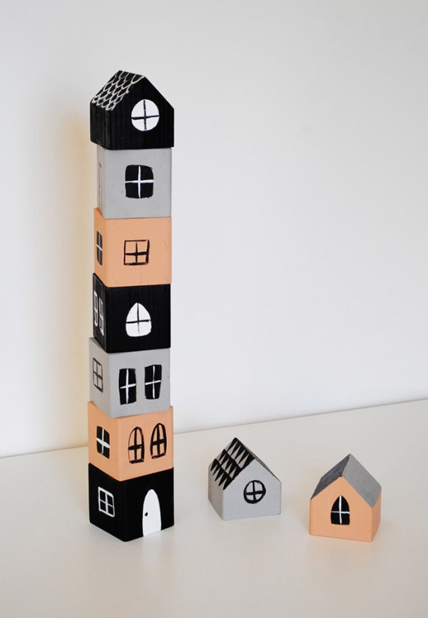 The best craft projects to make with kids, via We-Are-Scout.com: stacking house boxes.