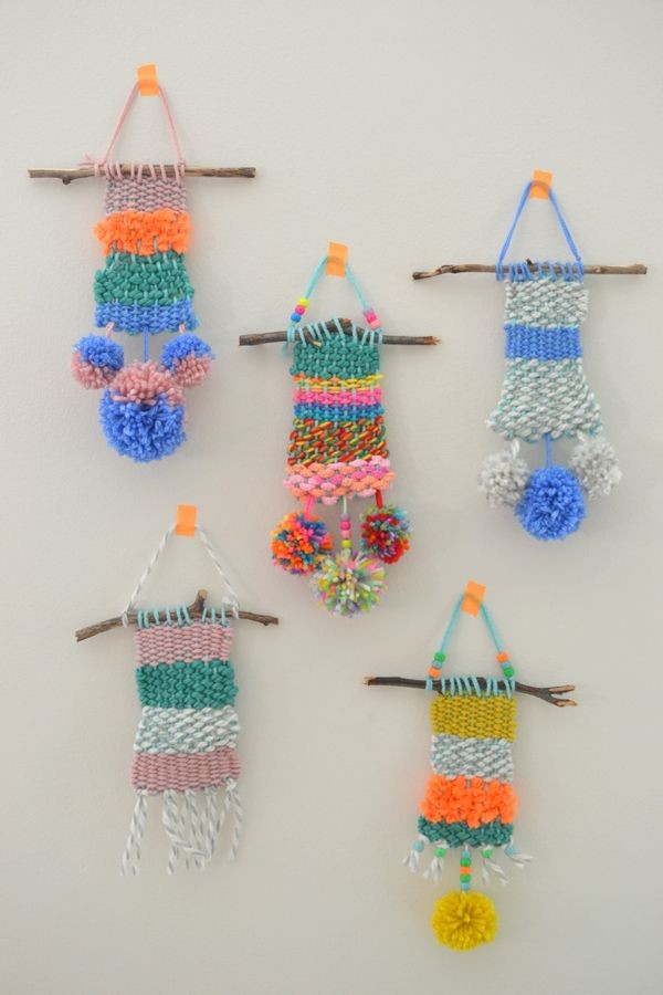 The best craft projects to make with kids, via We-Are-Scout.com: weaving with kids.